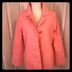 GAP Bubble Gum Pink 3/4 Length Trench Coat
